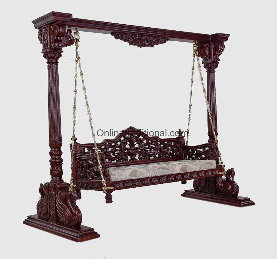 Indian Jhula Wooden Indian Jhula Swing For Indoor