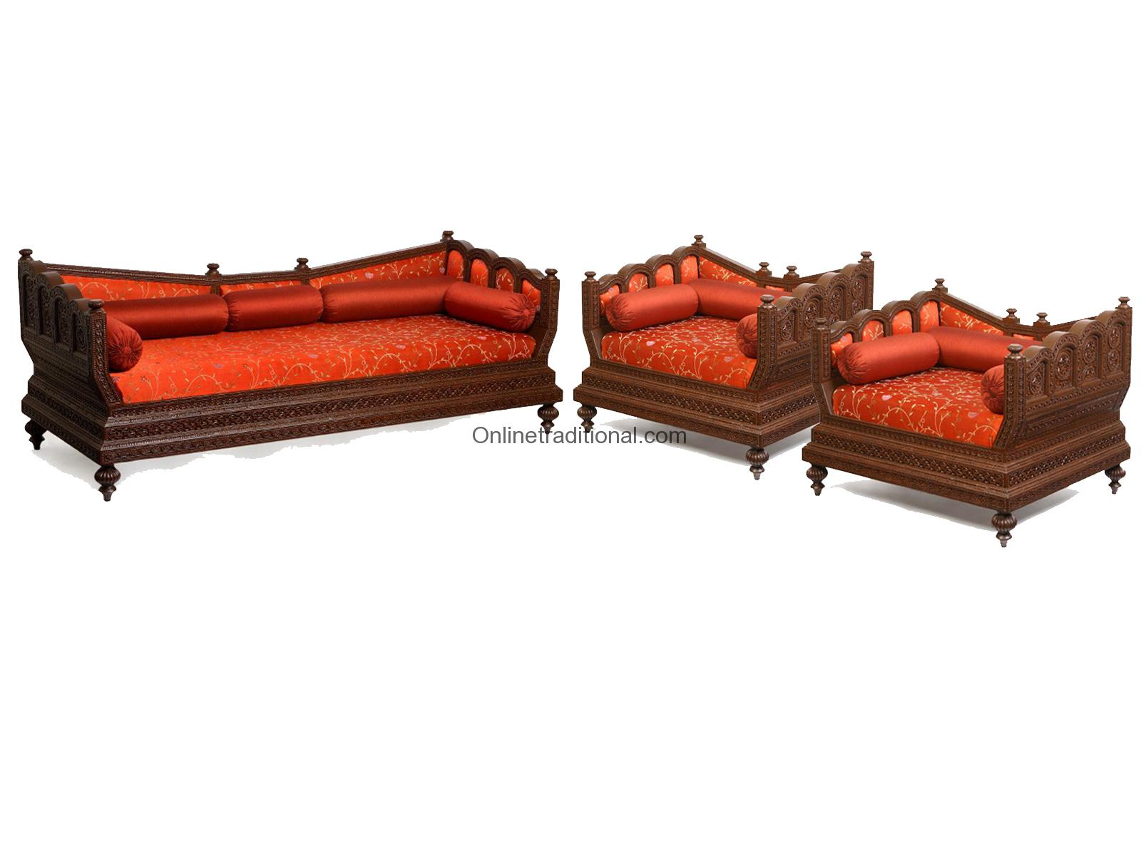 Sofa Set, Indian Wooden Sofa Set for Home & Office | Pearl Handicrafts