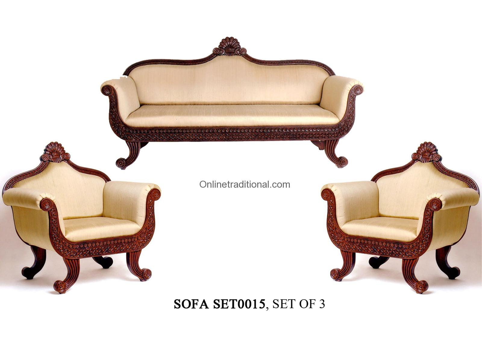 Teak Wood Sofa Sets, Traditional & Carving Sofa Sets