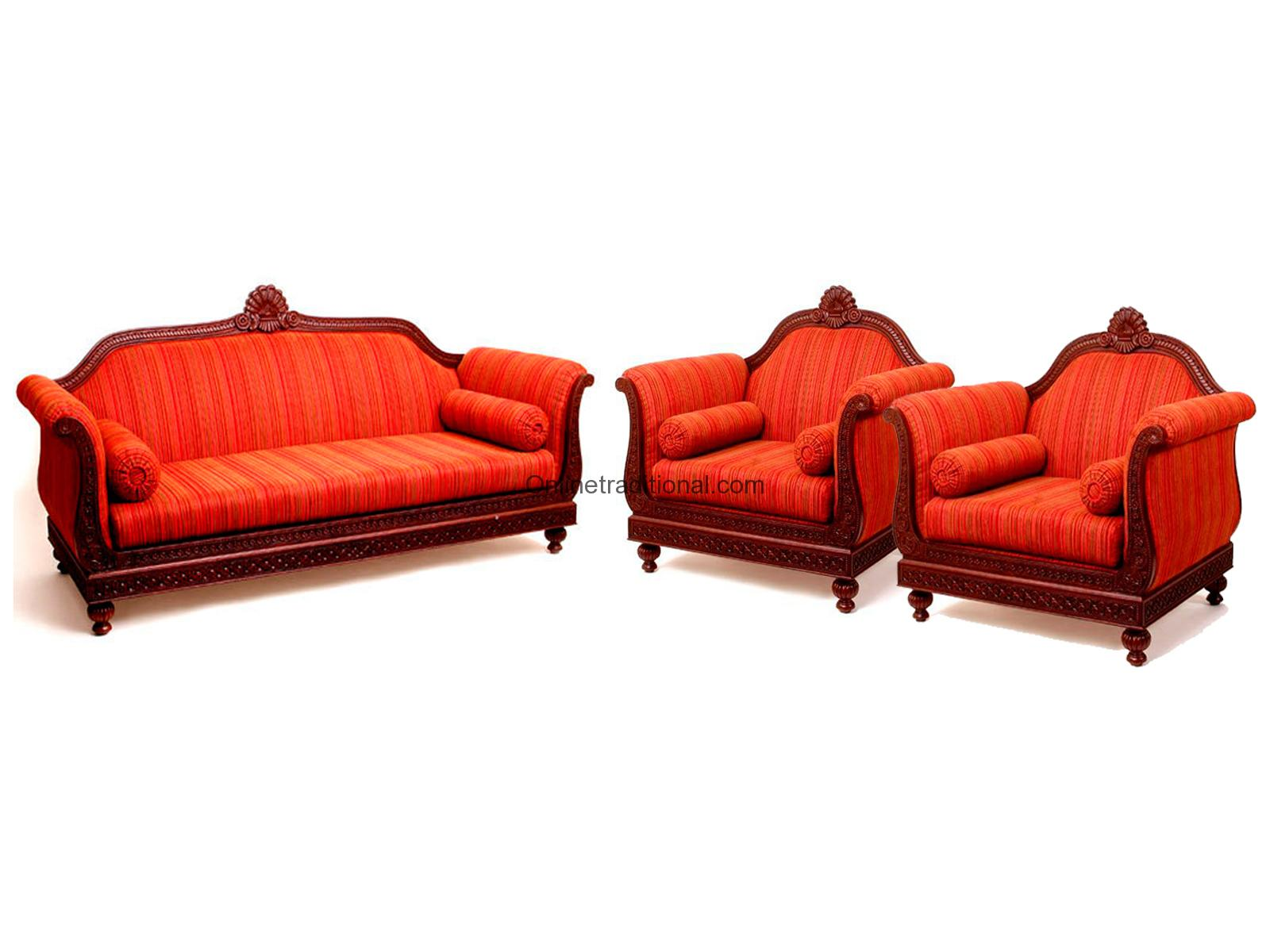 sofa sets indian teak wood sofa set design for home pearl handicrafts. Black Bedroom Furniture Sets. Home Design Ideas