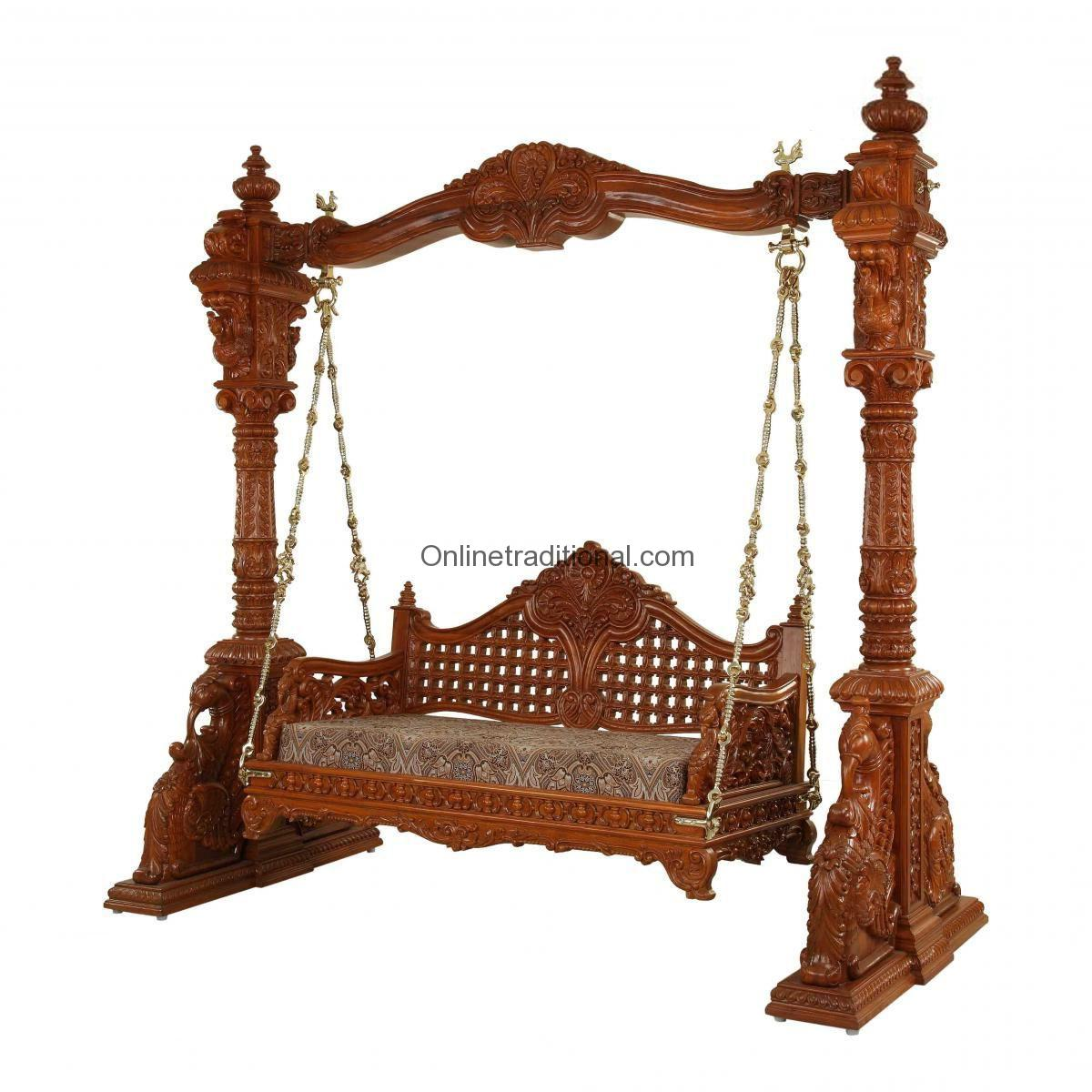 An Antique Carved Teak Swing Set By Pearlhandicrafts Com
