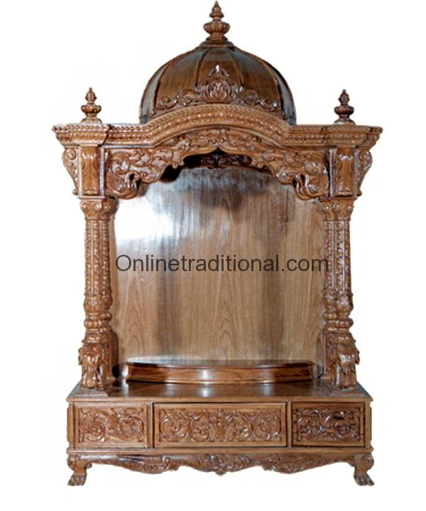 Simple Beautiful Medium Size Mandir Temple For Home
