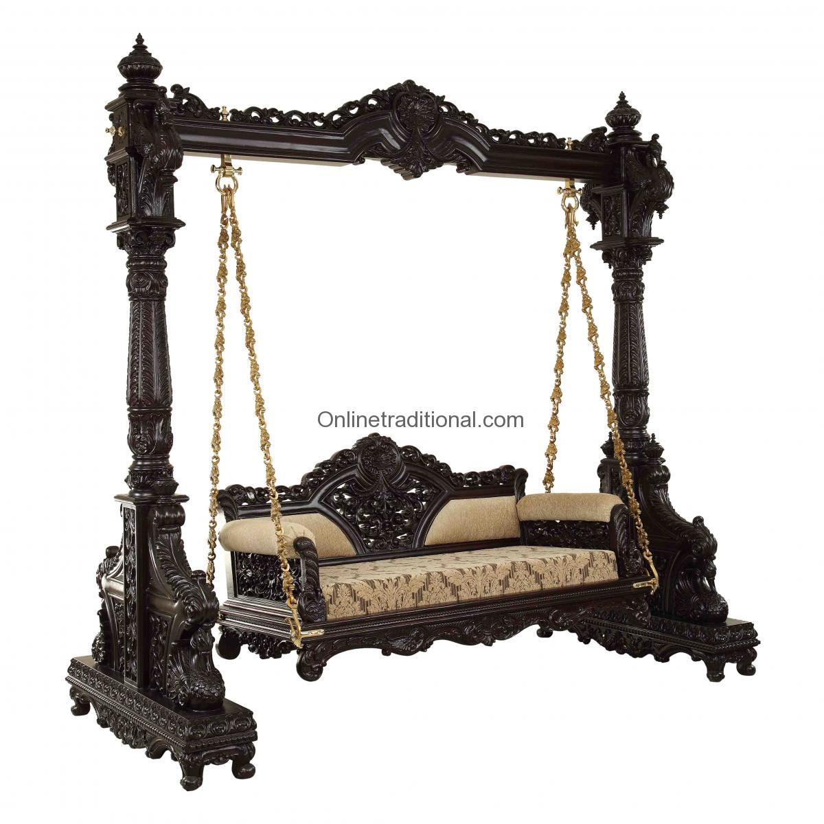 Wooden Furniture for Home, Wooden Doors, Beds, Swing and Temple in India