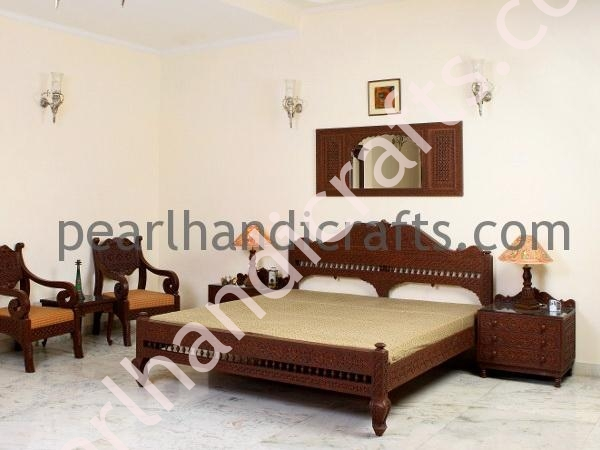 Teak Solid Wood Beds Indian Bed For Home Pearl Handicrafts